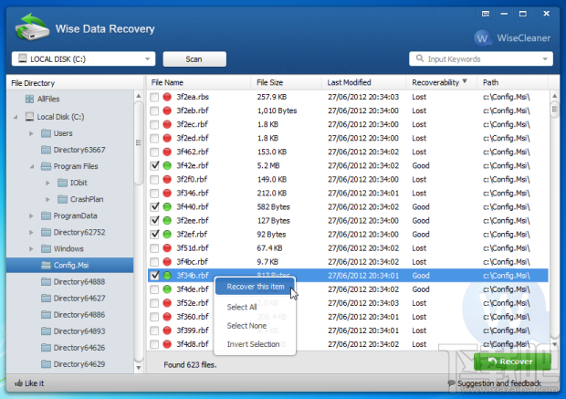 Wise Data Recoverywise data recovery中文版|Wise Data Recovery(数据恢复软件) 3.87绿色版(3)