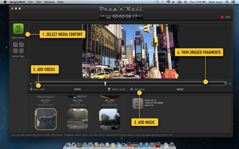 Drop'n'Roll automatic movie maker for mac版2.2.2官方版0
