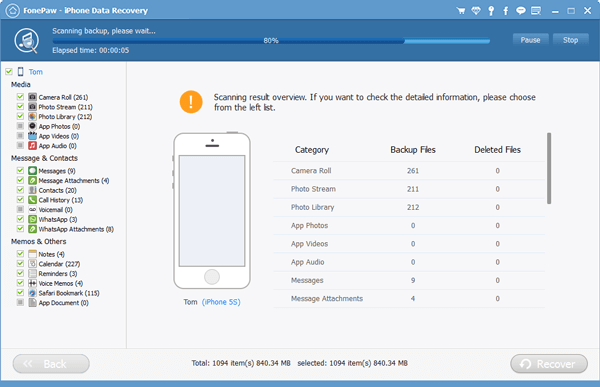FonePaw iphone data recovery2